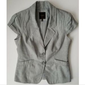 The Limited small cap sleeve gray blazer